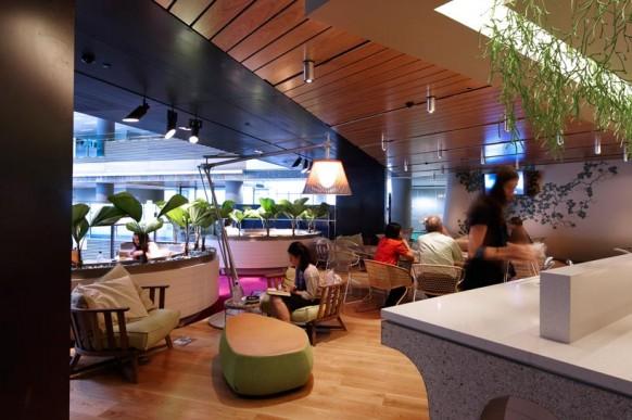 ANZ business-Center, moderne Büroflächen grün