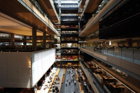 ANZ business Center Hauptweg atrium-modernes Bürogebäude