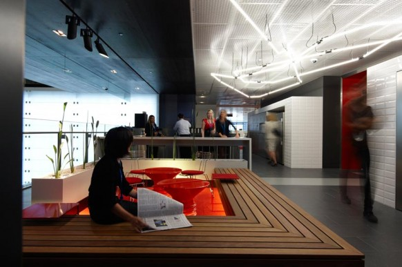 ANZ businesss Center moderne Büroräume orange