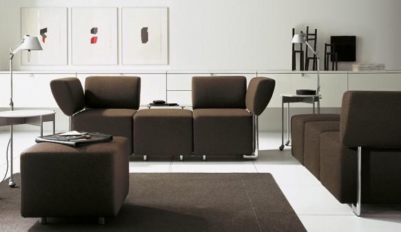 braunes sofa