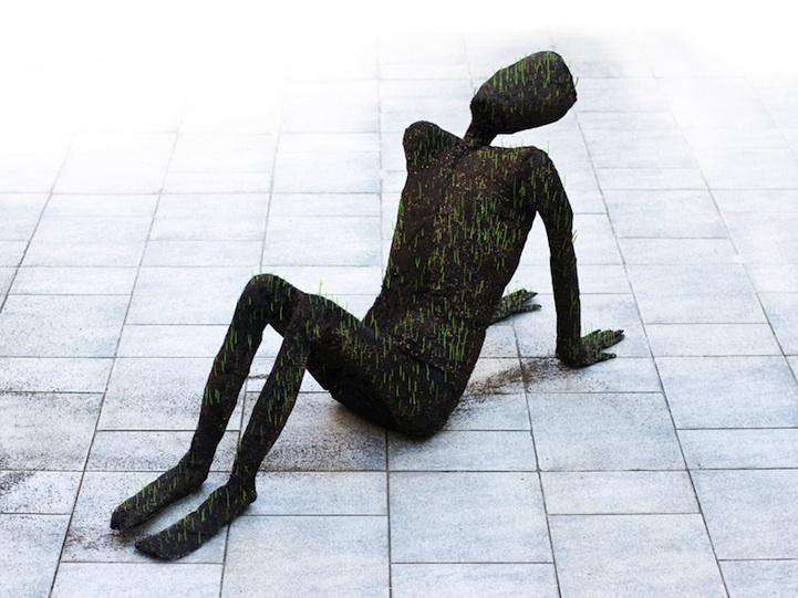 Eerily Fascinating Grass Sculptures