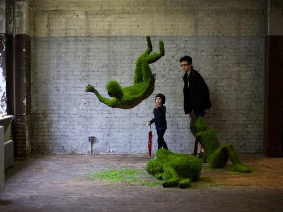 gras-Skulptur