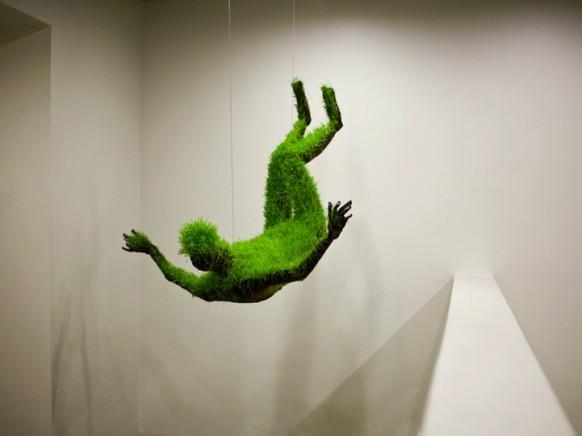 hängen-gras-Skulptur