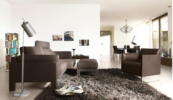 Wohnzimmer Teppich schwarz