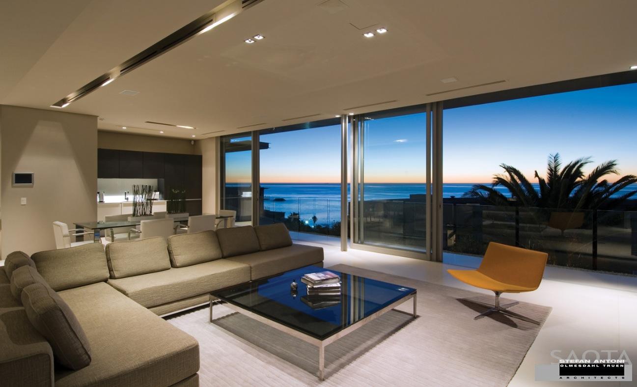 Living room sea view