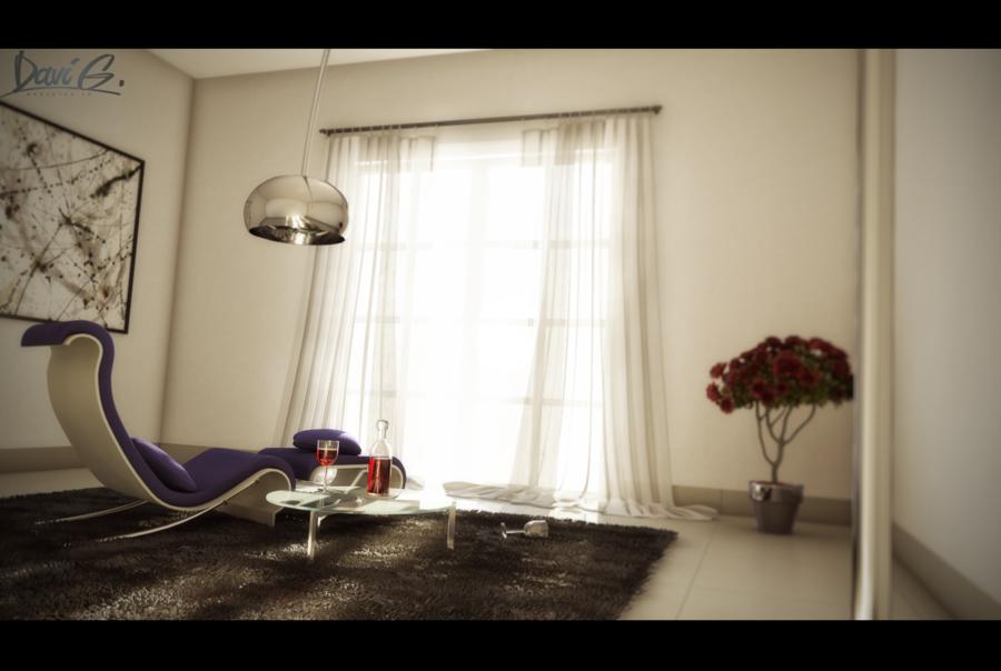 Lounge purple grey modern davibaixo