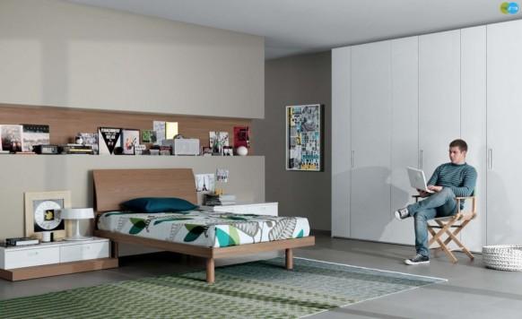 Neutrale Zeitgenössische Teenager Schlafzimmer
