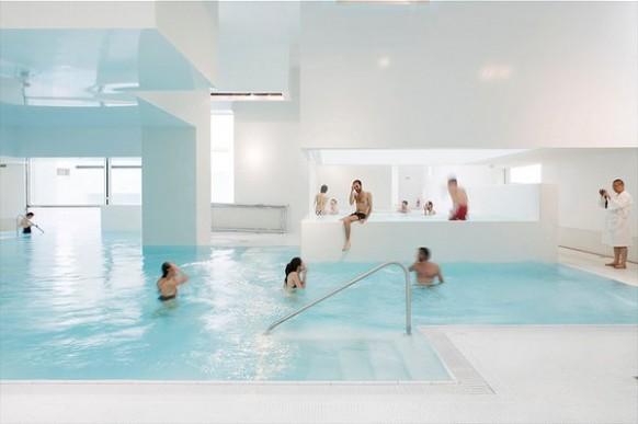 Menschen, die pool-Architektur-Les-Bains Des Docks Aquatic Center