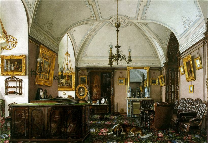 Study russian palace masculine opulent