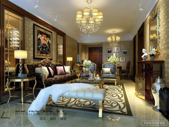 Tapete Wohnzimmer vielseitigen neutralen Tönen