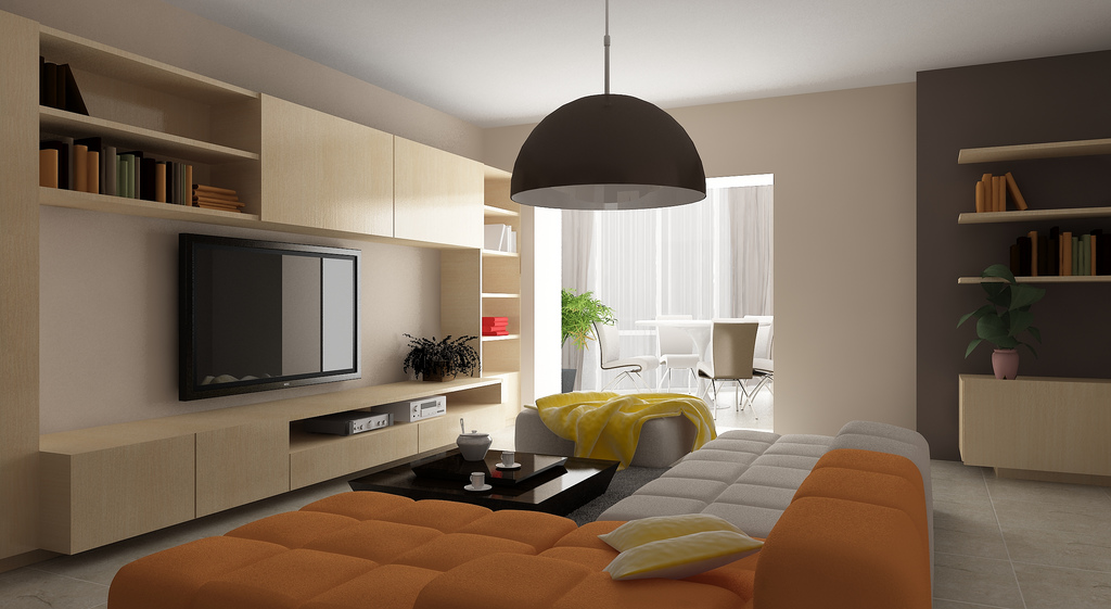 warm color living  interior design ideas