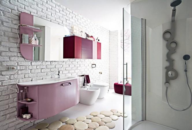 Badezimmer Akzent Wand