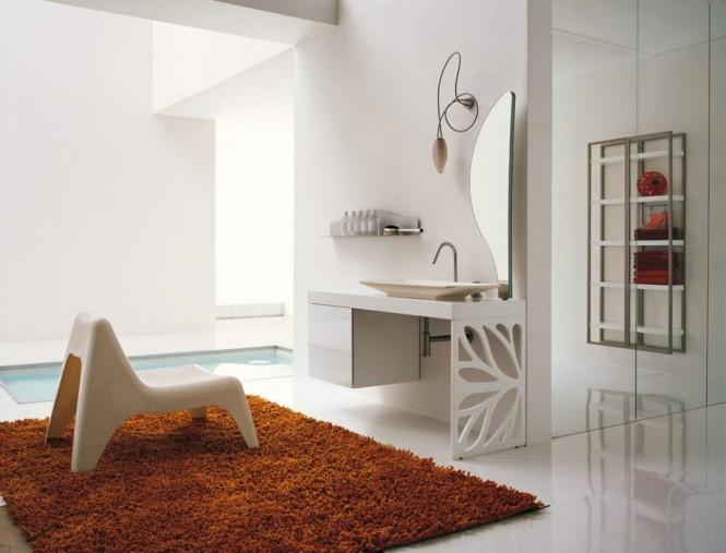 Bad-Teppich-Stuhl
