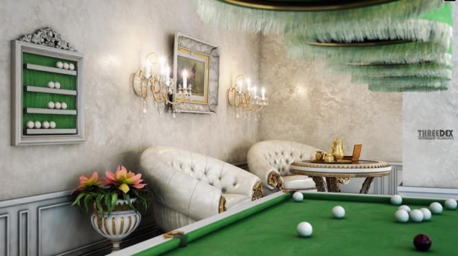 schönen viktorianischen pool Zimmer