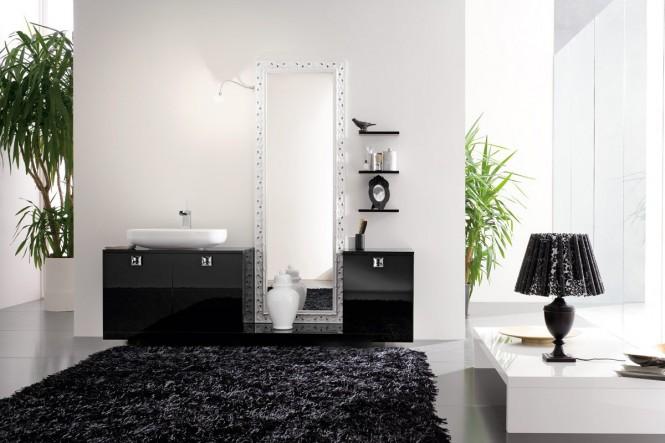 schwarz-Teppich-Badezimmer