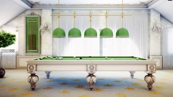 grüne Lichter über grünen Tisch