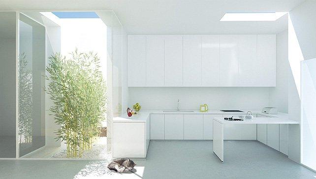 Küche, Innenhof