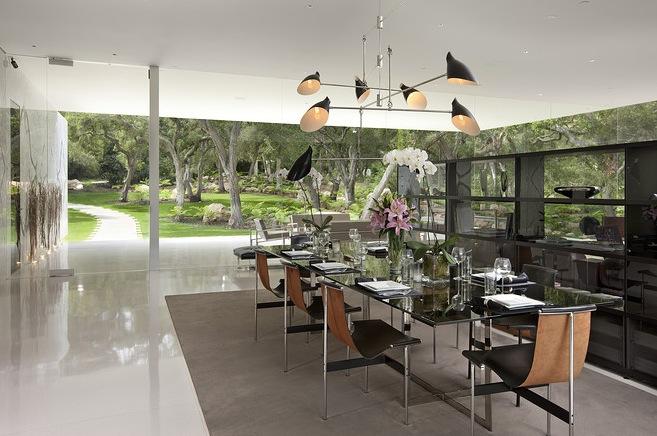 Luxus-Restaurants transparente Wände