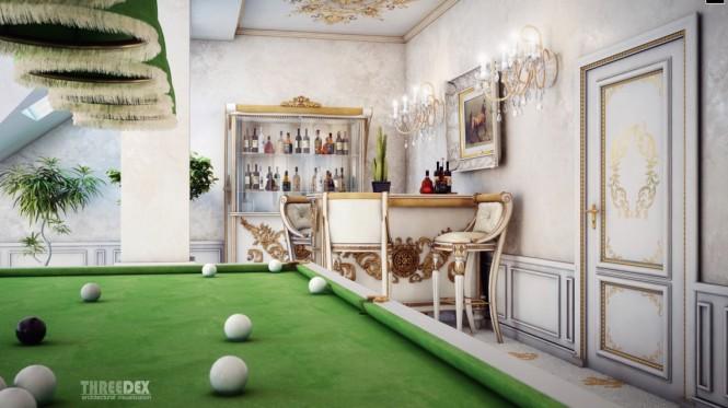 viktorianische bar-Ecke
