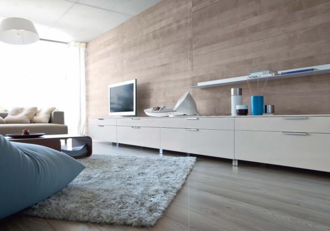 Holz-Wand-Flachbild-tv Bett