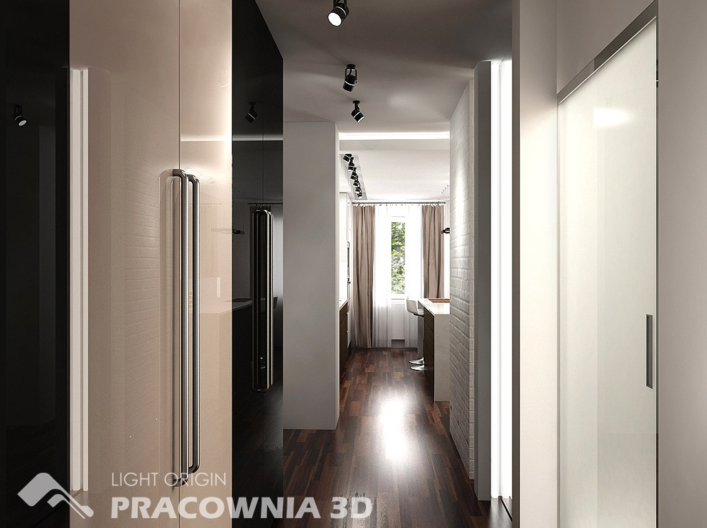 Corridor Design: Cute And Groovy Small Space Apartment Designs