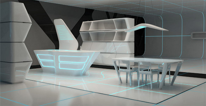 Tron Inspired Home Interiors From Dupont