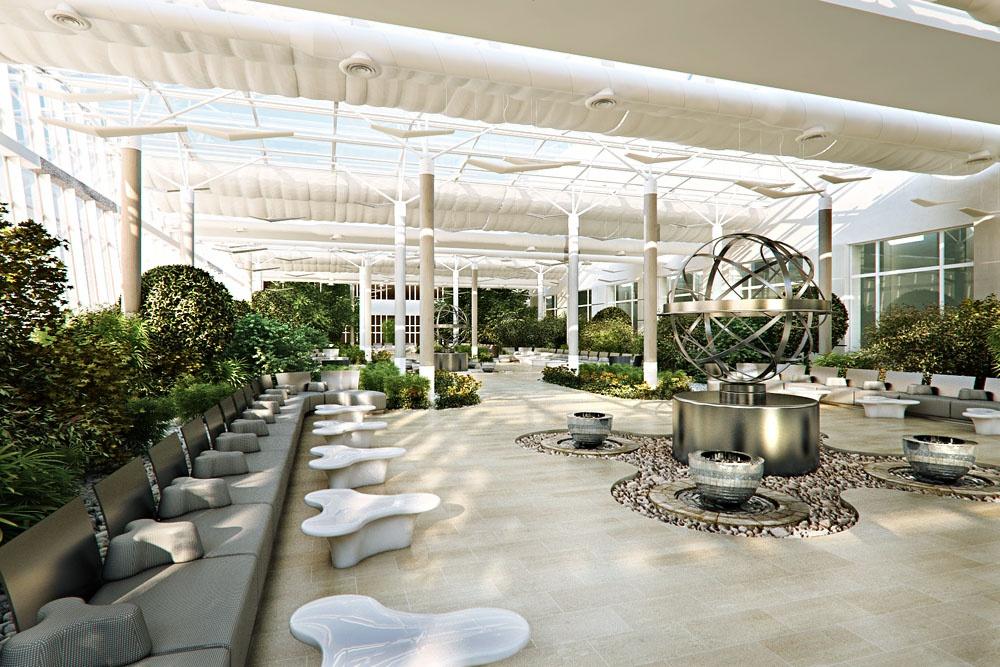 Green Office Lounge Interior Design Ideas