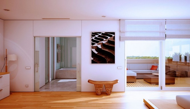 moderne-Schlafzimmer-Balkon