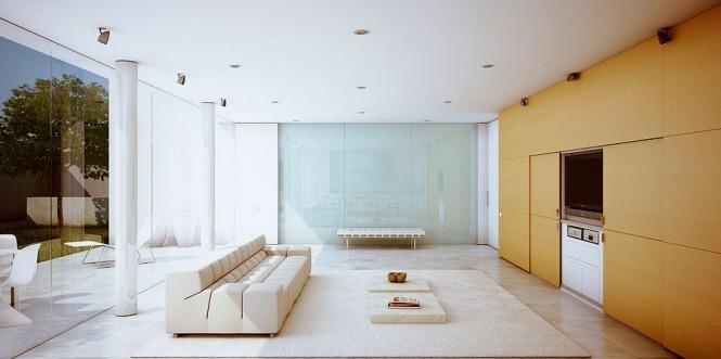 moderne Stil-Wohnzimmer