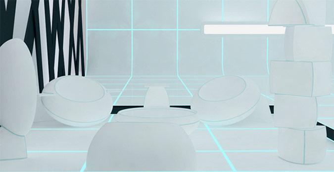 Tron Style Livinginterior Design Ideas