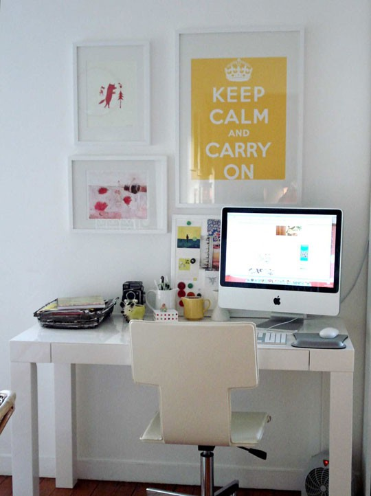 Yellow Workspace Busy Creative Space