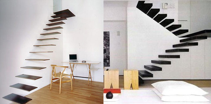 Floating Stairs Interior Design Ideas