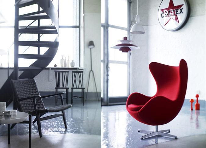 White Interior Red Accent Chair Interior Design Ideas