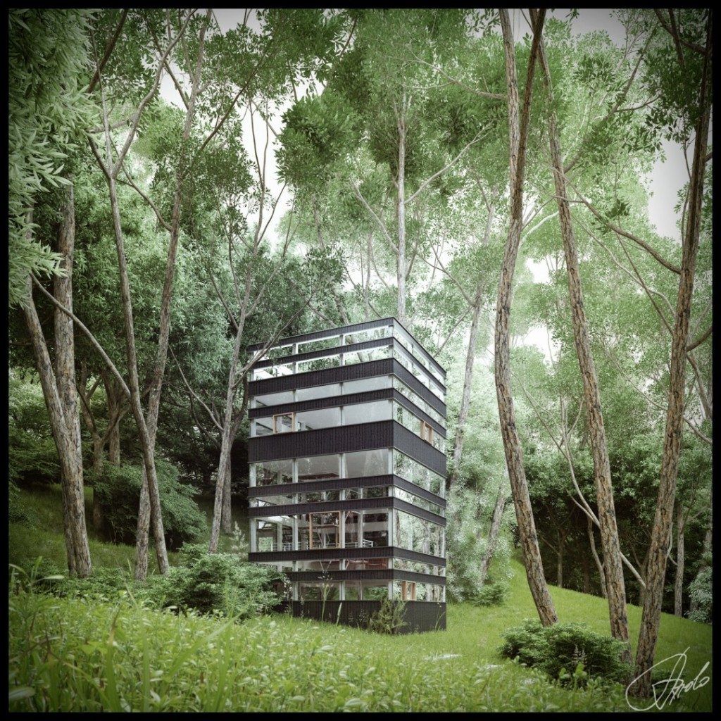 House Beautifull: Japanese House In The Forest (Visualized