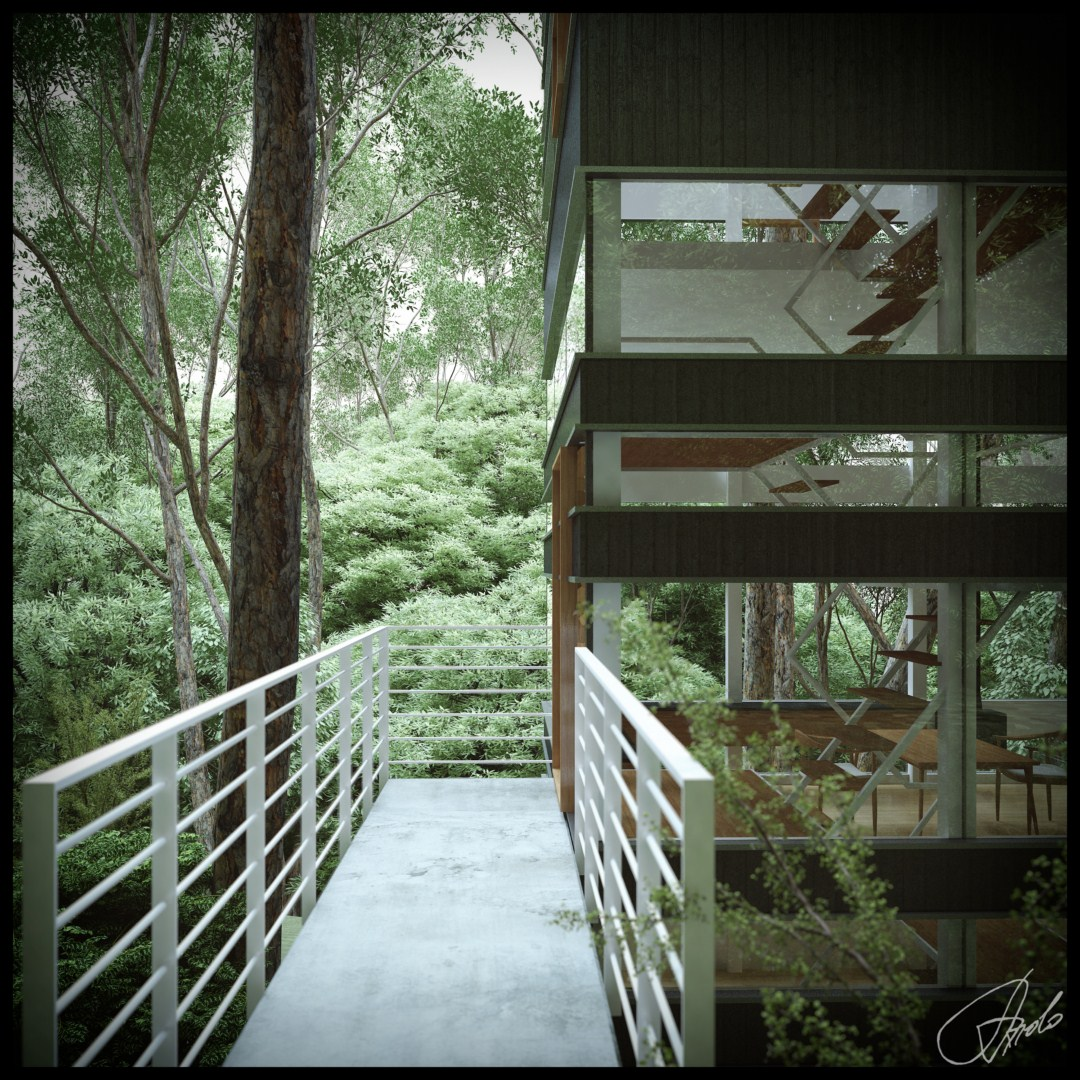 Japanese House In The Forest (Visualized