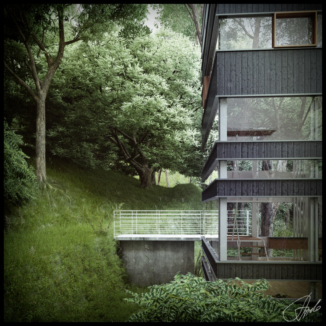 House Designing: Japanese House In The Forest (Visualized