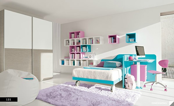 minimal furniture yields big in girls bedroom interior design ideas. Black Bedroom Furniture Sets. Home Design Ideas