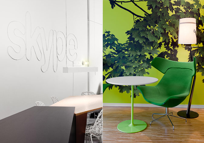Skypes Stockholm Office Sparks With Contrast