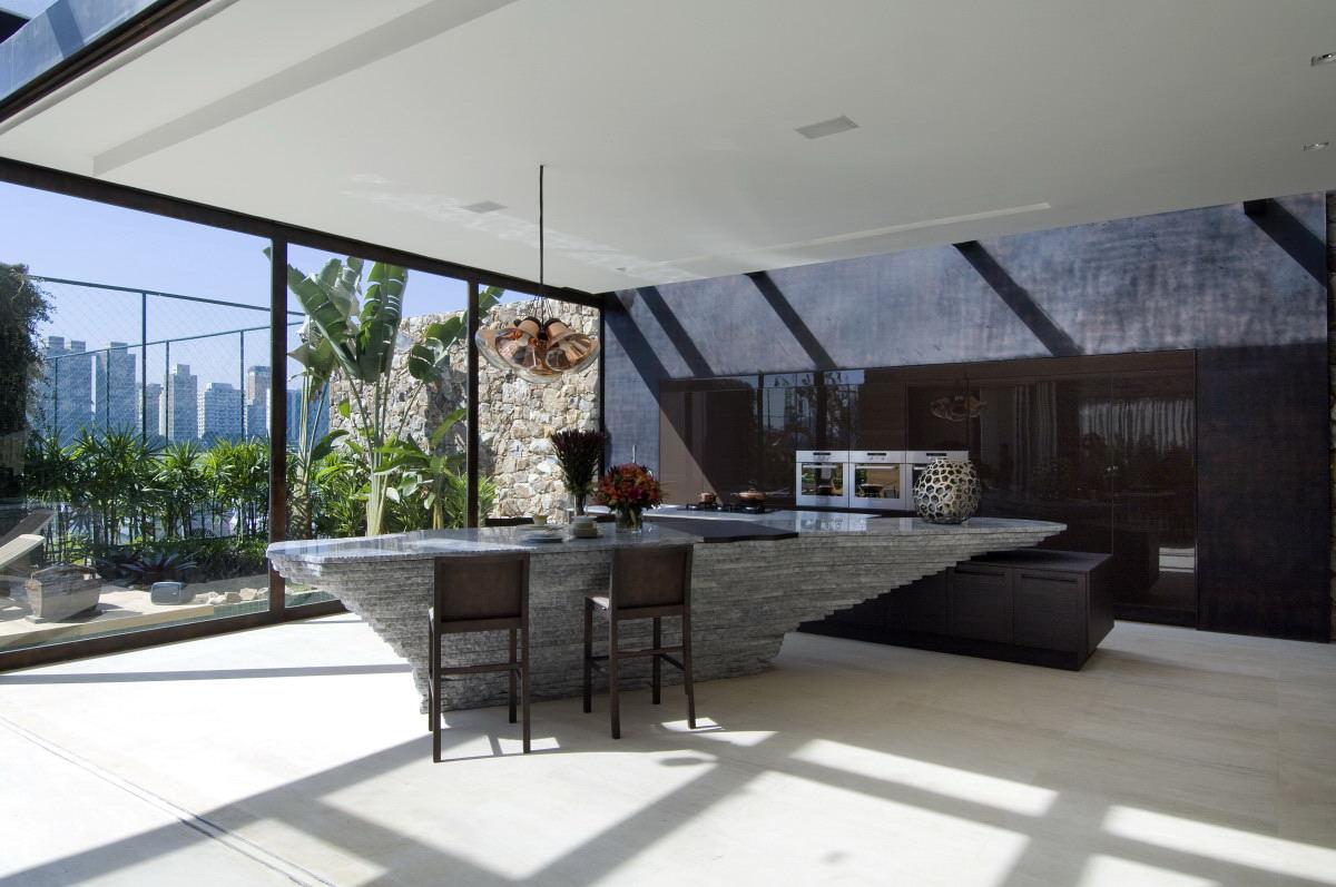 Modern Bar And Kitchen Area Interior Design Ideas
