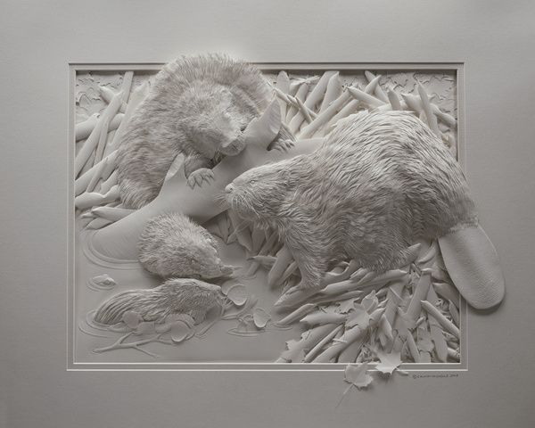 Moderne Amazing Paper Sculptures QI-28