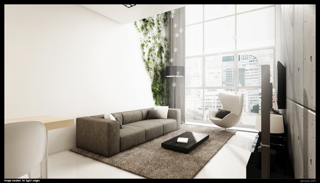 Classy modern interiors visualized by greg magierowsky - Modern contemporary interior design ...
