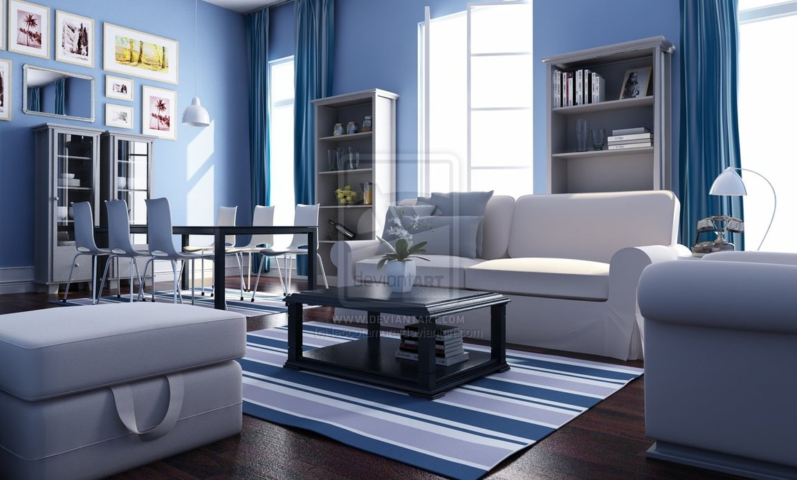 blue and white living rooms. Blue And White Living Room Interior Design Ideas blue white living rooms  Centerfieldbar com