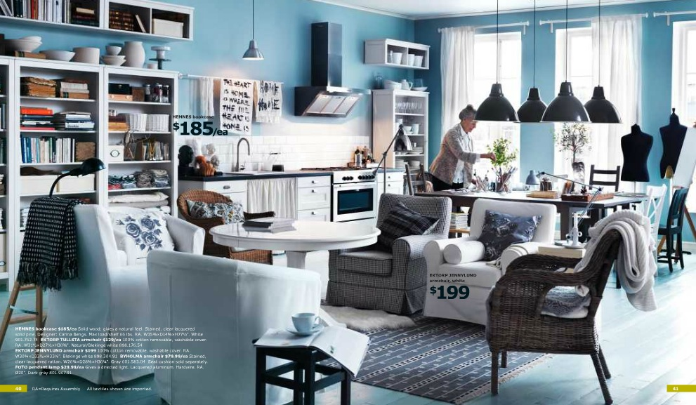Ikea Blue Living Area Interior Design Ideas