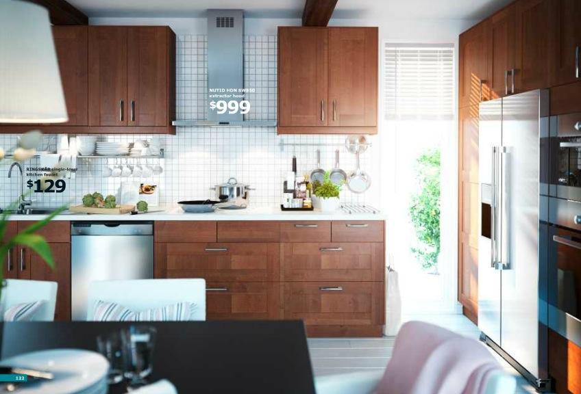 Ikea Brown Kitchen Interior Design Ideas