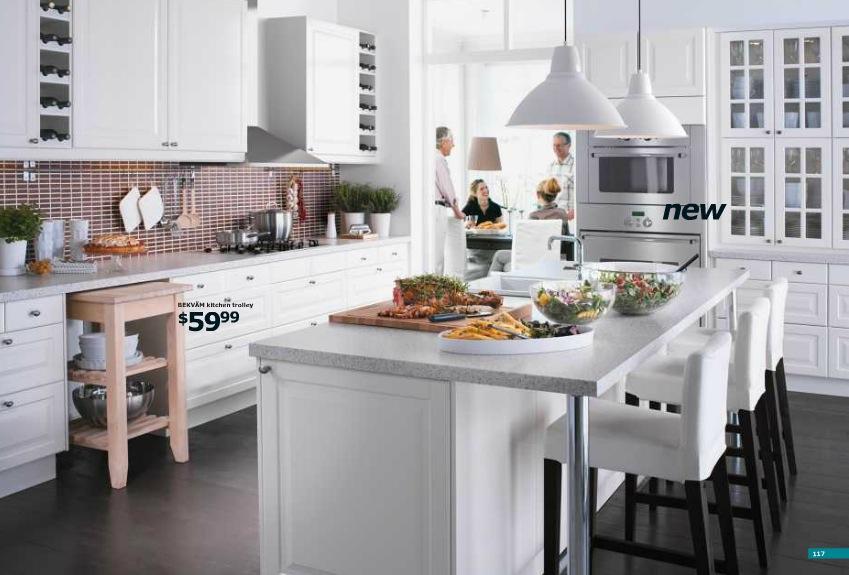 Ikea Large White Kitcheninterior Design Ideas