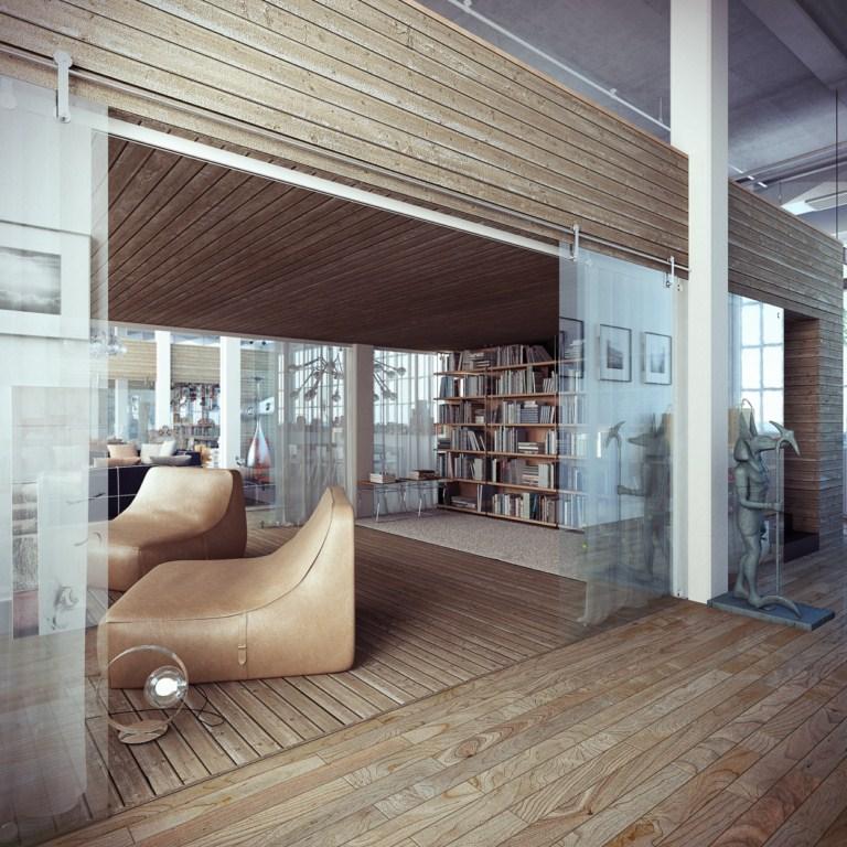 industrial loft. Black Bedroom Furniture Sets. Home Design Ideas