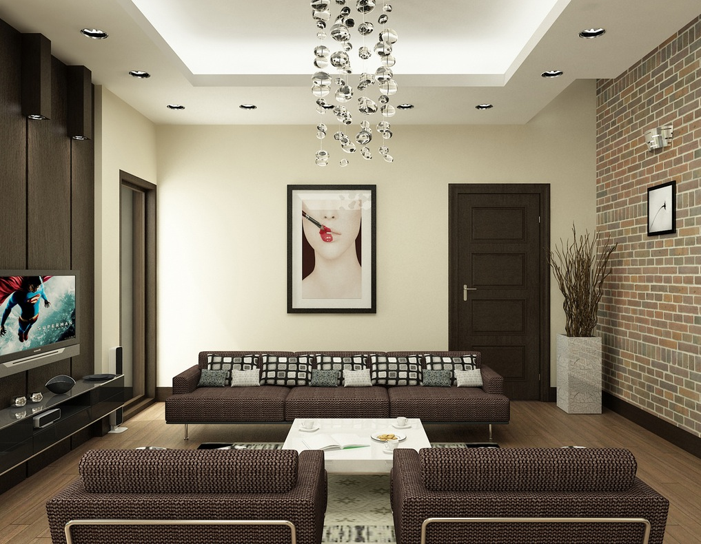 nguyen brown and white living room interior design ideas - Brown Living Room Design