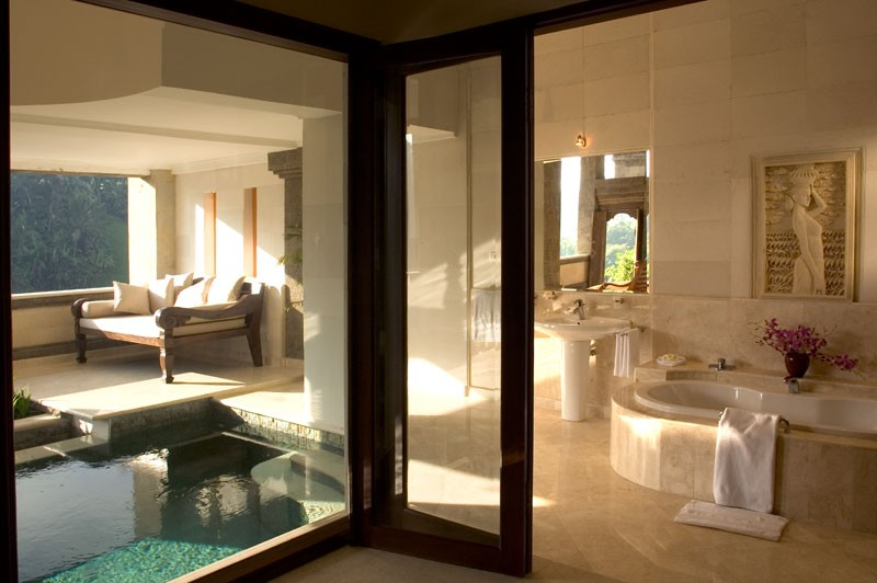 Bali Viceroy Pool And Incredible Marble Interior Design