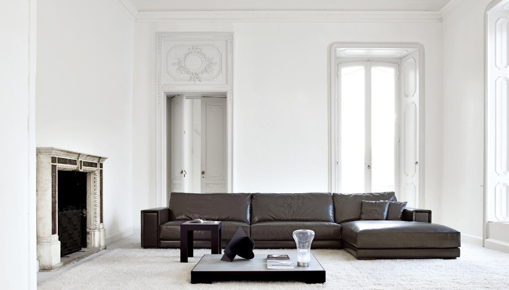 Busnesli Brown and White Large Living Room | Interior ...