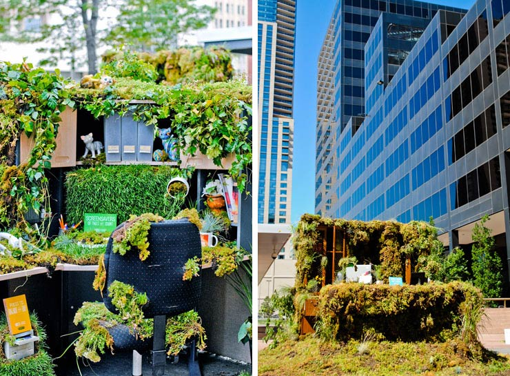 Nature dominated office in denver
